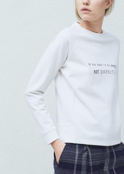 Yazılı Mango Sweatshirt Modelleri 2016