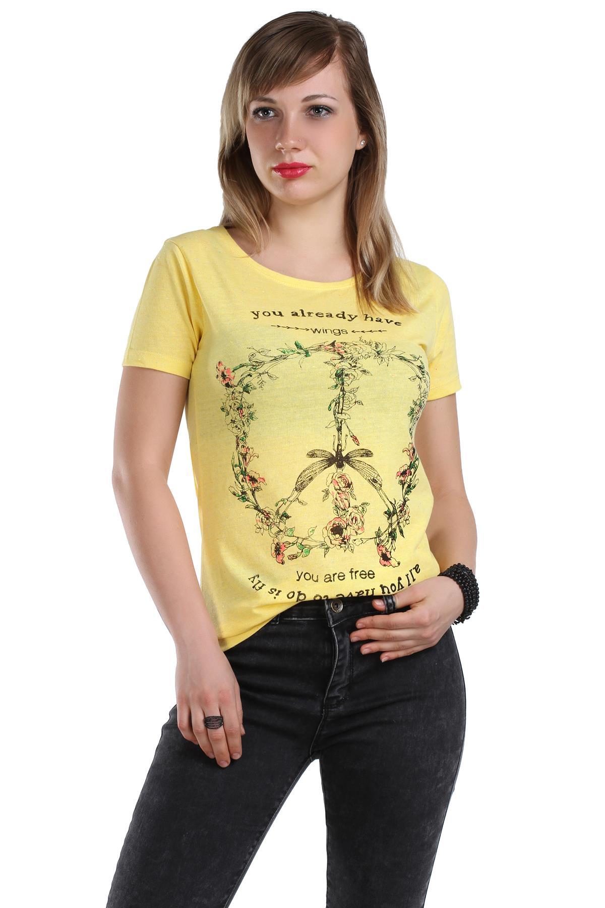 Çiçek Desenli Tişört Modelleri 2016