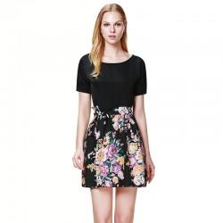 Çiçek Desenli Yazlık Elbise Modelleri 2016