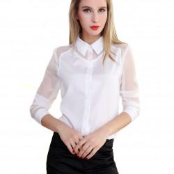 2016 Yeni Sezon Beyaz Şifon Gömlek Modelleri