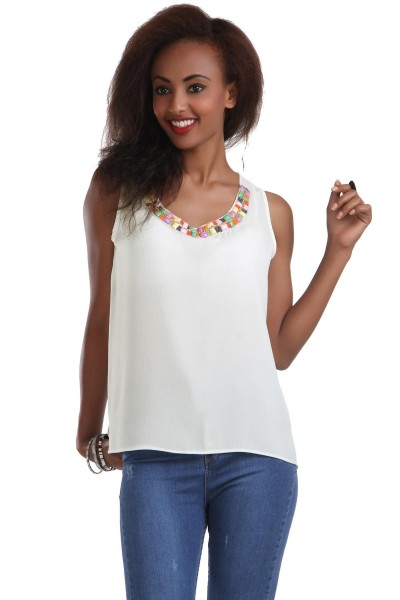 Boncuk Yaka İşlemeli Patırtı Bluz, Patırtı Modelleri 2016
