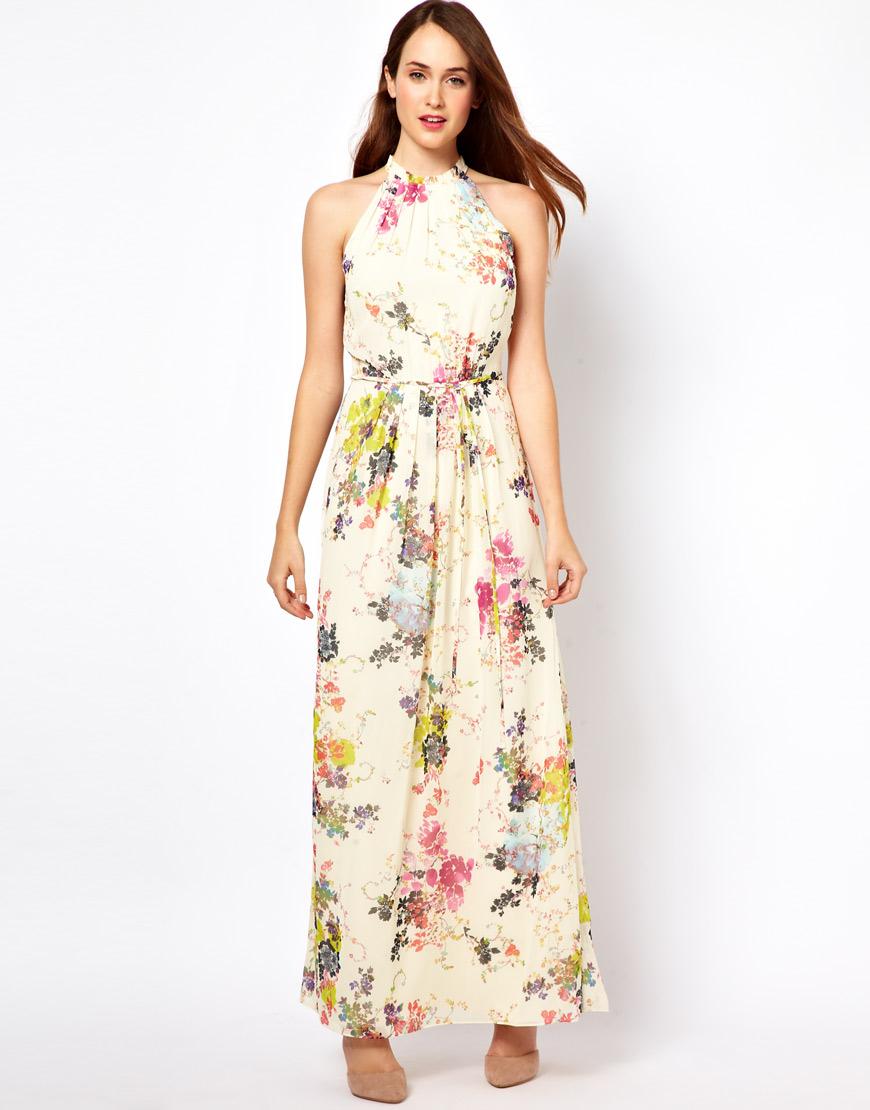 e70e544ba6569 Boyundan Askılı Çiçek Desenli Yazlık Elbise Modelleri 2016 »