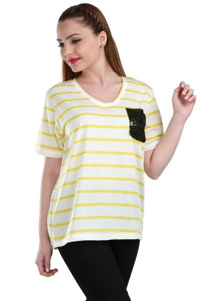 Cepli Çizgi Desenli Patırtı Tişört Modelleri 2016