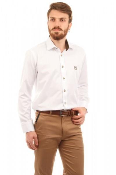 Dirsek Yama Detaylı Patırtı Erkek Gömlek Modelleri
