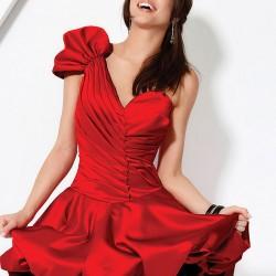 En Gösterişli Kırmızı Elbise Modelleri 2016