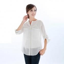 En Güzel Beyaz Şifon Gömlek Modelleri 2016