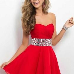 En Güzel Mini Kırmızı Elbise Modelleri