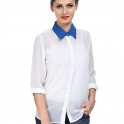 En Tarz Beyaz Şifon Gömlek Modelleri 2016
