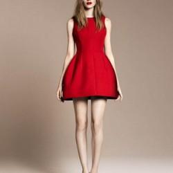 En Tarz Kırmızı Elbise Modelleri 2016