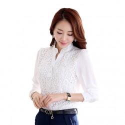 En Yeni İşlemeli Beyaz Şifon Gömlek Modelleri 2016