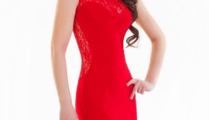 Güpürlü Kırmızı Elbise Modelleri 2016