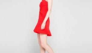 Kırmızı Renkli Yazlık İpekyol Abiye Modeli