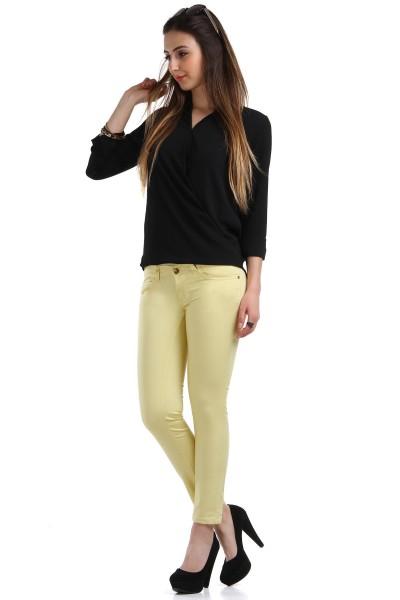 Patırtı Giyim Dar Paça Sarı Renkli Pantolon Modeli 2016