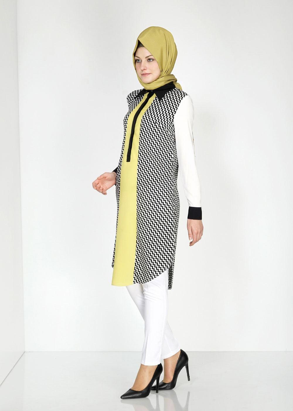 fb52932dd8573 Rengarenk Alvina Genç Tesettür Tunik Modelleri, Genç Tesettür Giyim 2016
