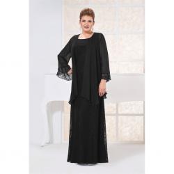 Siyah Renkli Anne Abiye Modelleri