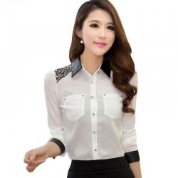 Sokak Modasına Uygun Beyaz Şifon Gömlek Modelleri 2016