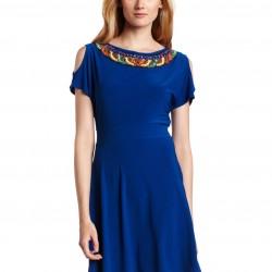 Yaka İşlemeli Genç Elbise Modelleri 2016