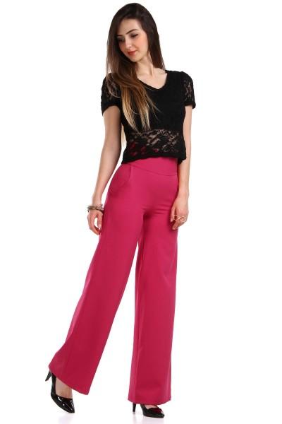 Yandan Fermuarlı İspanyol Paça Pantolon Modelleri 2016