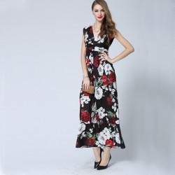 Yeni Sezon Çiçek Desenli Yazlık Desenli Elbiseler
