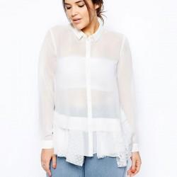 Yeni Sezon Beyaz Şifon Gömlek Modelleri 2016