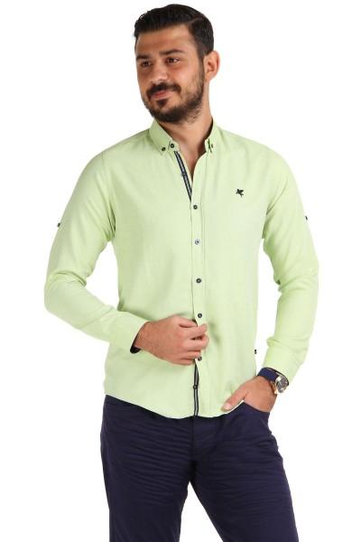 Yeni Sezon Slim Fit Patırtı Erkek Gömlek Modelleri