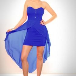 İddialı Cesur Mini Mavi Abiye Modelleri
