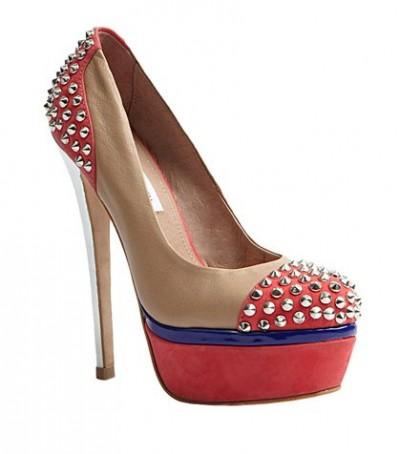 İki Renk Zımbalı Bayan Ayakkabı Modelleri