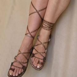 Bayan İpli Sandalet Modelleri 2016