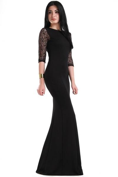 Dantel Kollu En Yeni Patırtı Giyim Abiye Modelleri 2016