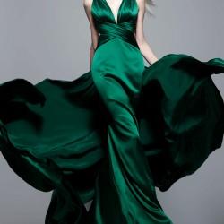 En Gösterişli Zümrüt Yeşili Abiye Modelleri 2016