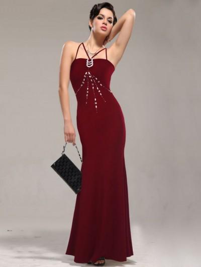 En Güzel Bordo Renkli Abiye Modelleri 2016