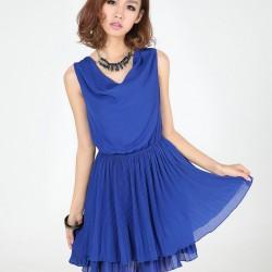 En Güzel Yazlık Mavi Elbise Modelleri 2016