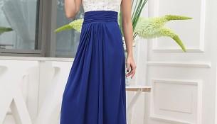 Mavi Beyaz Çok Zarif İki Renkli Abiye Modelleri 2016
