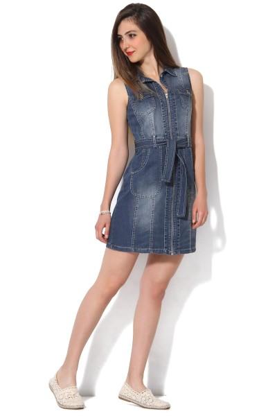 Patırtı Giyim Yazlık Mini Kot Elbise Modelleri 2016