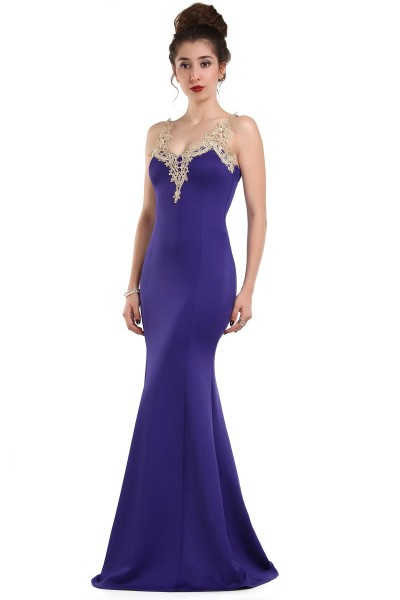 Saks Mavisi İşlemeli Patırtı Giyim Abiye Modelleri 2016