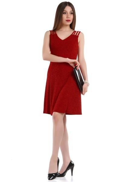 Simli Çok Şık Patırtı Giyim Yazlık Elbise Modelleri 2016