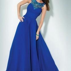 Uzun Mavi Abiye Modelleri 2016