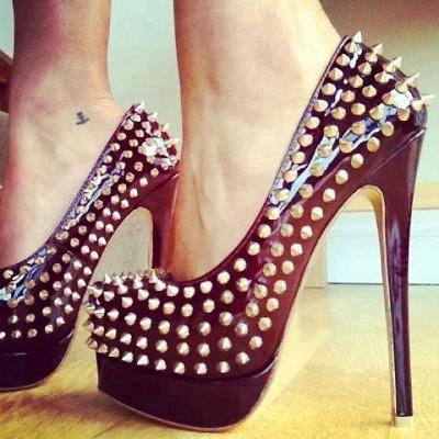 Zımbalı Topuklu Ayakkabılar