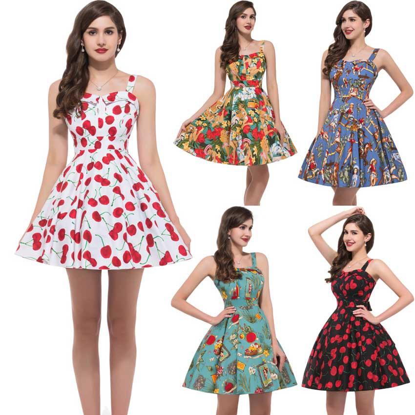 2016 Yaz Modası Vintage Elbise Modelleri