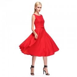 2016 Yazlık Kırmızı Elbise Modelleri