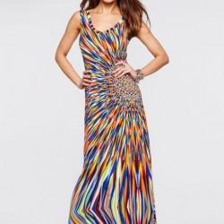 Askılı Yazlık Uzun Elbise Modelleri 2016