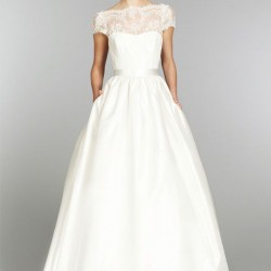 Beyaz Renkli İşlemeli Cepli Abiye Modelleri 2016
