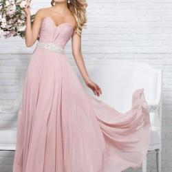 En İhtişamlı Pembe Elbise Modelleri 2016