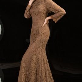 En Şık Dantel Detaylı Uzun Kollu Abiye Modelleri 2016