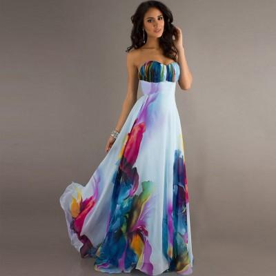 En Gösterişli Yazlık Straplez Elbise Modelleri 2016