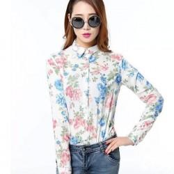 En Güzel Çiçek Desenli Bayan Gömlek Modelleri 2016