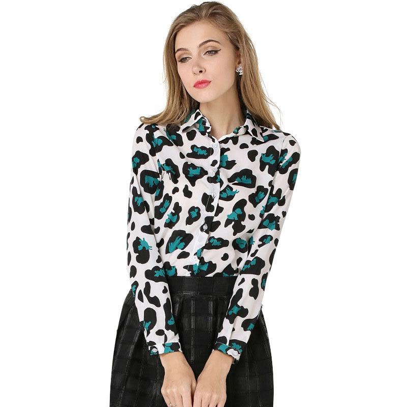 Блузка С Леопардовым Принтом Доставка