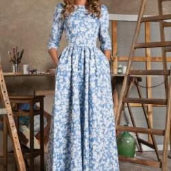 En Güzel Desenli Uzun Kollu Elbise Modelleri