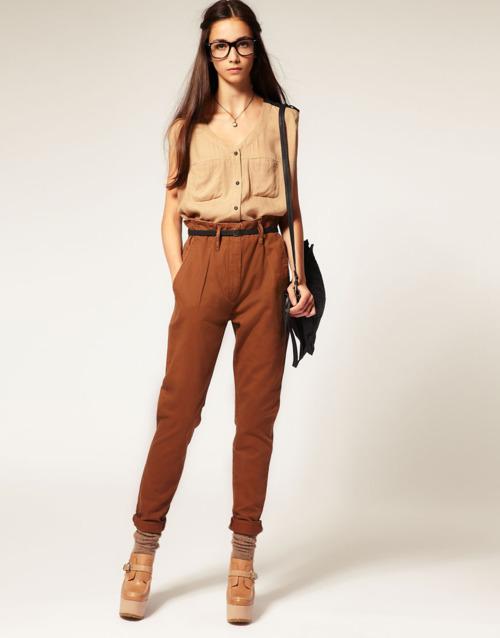 En Güzel Kemer Detaylı Yüksek Bel Kumaş Pantolon Modelleri 2016