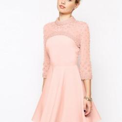 En Güzel Mini Pembe Elbise Modelleri 2016